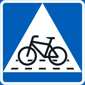 Väistämisvelvollisuus pyöräilijän tienylityspaikassa